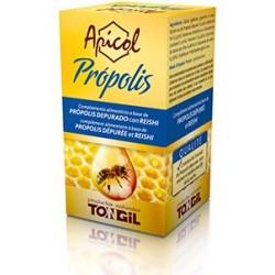 Ingredientes activos/perla: Extracto de Própolis Depurado 183 mg Extracto seco 20:1 de Micelio de Reishi 20 mg Extracto