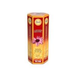 Ingredientes activos/frasco: Extracto glicólico de própolis depurado 43 g Extracto seco de Echinácea (Echinacea purpurea) 15
