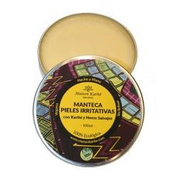 Bálsamo perfecto para afecciones en la piel con Manteca Pura de Karité Salvaje y Aceite de  Neem.  El Aceite Puro de Neem, un