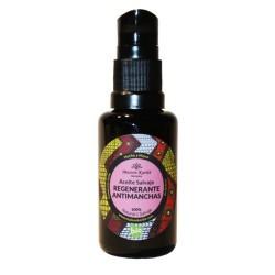 Aceite de Noche regenerante y reparador especialmente recomendado para pieles maduras o con manchas.  Esta mezcla de apreciad