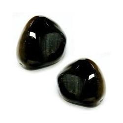 Mineral Rodado Mediano de Ágata Negra Medidas: 20-30mm aprox.de diámetro