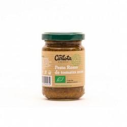 DESCRIPCIÓN DEL PRODUCTO Pesto Rosso de tomates secos con aceite de semillas de girasol y aceite de oliva virgen extra. Sin