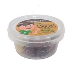DESCRIPCIÓN DEL PRODUCTO Gominola vegans cubierta de azúcar. Ingredientes Azúcar de caña* (sin refinar), sirope de maíz*, zumo