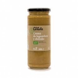 DESCRIPCIÓN DEL PRODUCTO Crema de legumbres y verduras con aceite de linaza y aceite de oliva virgen extra, seta shiitake y un