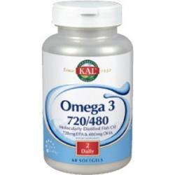 Omega 3 720/480REF. 83684 Omega 3 720/480 - 60 perlas  Descripción Los productos a base de aceite de pescado de KAL® Fish p