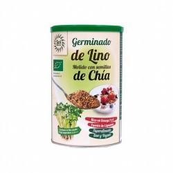 Ingredientes: *Lino Germinado Molido (80%), *Semillas de Chía (20%).  * Ingredientes de la agricultura ecológica