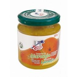 Compota de naranja procedente de agricultura ecológica certificada. Obtenida de la cocción de la fruta y su mezcla con concentr