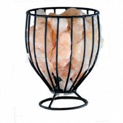 Lampara Sal Canasta Copa c/ piedras 22 cm
