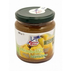 Compota de membrillo procedente de agricultura ecológica certificada. Obtenida de la cocción de la fruta y su mezcla con concen