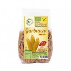 PENNE DE GARBANZO Y LINO SIN GLUTEN BIO 250 G SOL NATURAL    Ingredientes: Harina de Garbanzo* 80% y Harina de Lino Dorado*