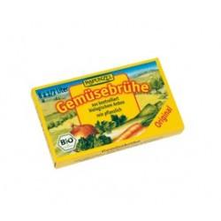 Caldo vegetal en cubitos 100% orgánico, ideal para sazonar y condimentar sopas, salsas y cualquier plato, o simplemente como un