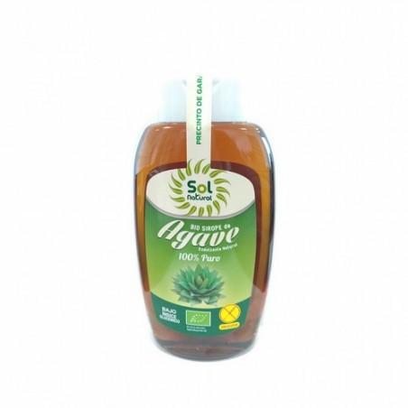 SIROPE DE AGAVE BIO 500 ML SOL NATURAL    Ingredientes: *Sirope de Ágave 100%.  * Ingredientes de la agricultura ecológic