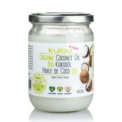 ACEITE DE COCO BIO KULAU (para cocinar) 450 GR VEGETALIA Descripción: El nuevo aceite de coco biológico Kulau Raw se obtiene