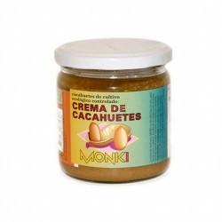 Descripción: Monki presenta su deliciosa crema de cacahuetes biológica en formato pequeño de 330 gramos. Su textura cremosa la