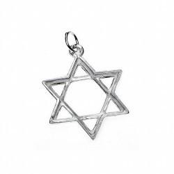 Amuleto Plata Estrella David 3 x 2.3 cm