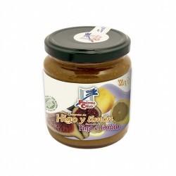 Compota de higos y limón procedente de agricultura ecológica certificada. No contiene gluten. Obtenida de la cocción de la frut