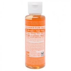 El Jabón Líquido de Castilla del Dr. Bronner's está hecho con aceite puro de árbol del té. Todos los jabones del Dr. Bronner es