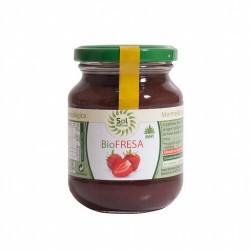 *Fresa, *Sirope de Ágave, Gelificante: Pectina de Frutas, Acidulante: Ácido Cítrico. * Ingredientes de la agricultura ecológic