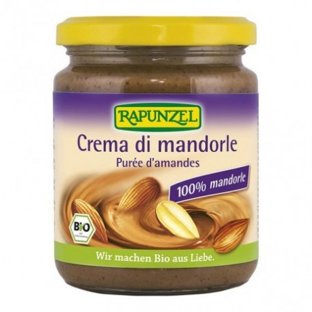 Crema de almendras tostadas. El sabor se desarrolla a través de la torrefacción suave con aire caliente de las energías renovab