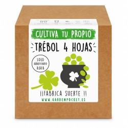 Siente la experiencia de cultivar con nuestro Kit de semillas de trébol de cuatro hojas. ¡¡ Cultiva tu propia suerte !!  ¿Qué