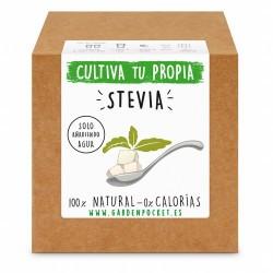 Siente la experiencia de cultivar con nuestro Kit de semillas de stevia. ¡¡ El edulcorante natural !!  Variedad: STEVIA REBAU