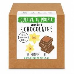 Siente la experiencia de cultivar con nuestro Kit de semillas de planta aromática a chocolate. ¡¡ Para los amantes del sabor du