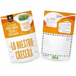¿Qué contiene?: sustrato bio, semillas ecológicas de brócoli, mezclador e instrucciones de cómo cultivar. En 10-14 días podrá