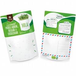 ¿Qué contiene?: sustrato bio, semillas ecológicas de mostaza, mezclador e instrucciones de cómo cultivar. En 10-14 días podrá