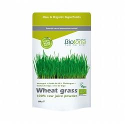 100% polvo de jugo de hierba de trigo (Triticum aestivum) Propiedades de los polvos puros de jugos de hierbas Biotona:  Fáci