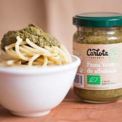 Pesto verde de albahaca con aceite de semillas de girasol y aceite de oliva virgen extra. Sin ningún aditivo artificial. Sin GL