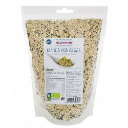 Quinoa con Algas – 500g Contiene 50g de algas por Kilo  Quinoa Real de los Andes bolivianos, alga Wakame atlántica silvestre