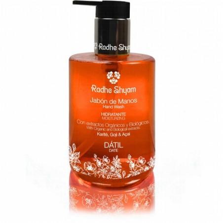 El Jabón Líquido de Manos Radhe Shyam te ayudara a mantener tus manos limpias, dejándote un suave y fragante aroma a  Dátil. Y