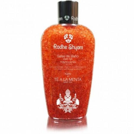 Las Sales de Baño de Radhe Shyam harán que tu bañera tenga una agradable fragancia a Té a la Menta, creando un placido ambiente