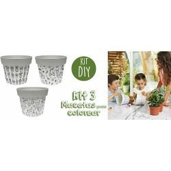 ¡Este Kit contiene todo el material necesario par crear macetas maravillosas! ¡Tanto los adultos como los niños apreciarán dar