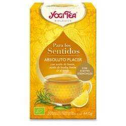 YOGI TEA® Absoluto Placer despliega los sentidos con aceites esenciales de refrescante hierba limón y efervescente limón. Cuida