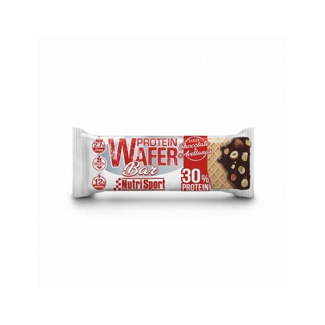 13 g de proteína y reducido en azúcares. Sin gluten. Textura tipo barquillo Caja de 15 barritas.