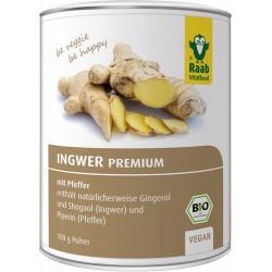 Con jengibre y  las sustancias picantes propias gingerol y shogaol  100 g