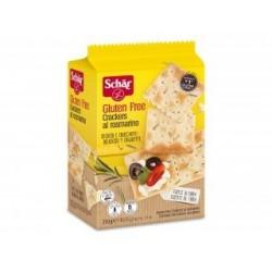 Suaves snacks salados sin gluten con un toque de romero Crujiente snack salado sin gluten aderezado de pequeñas hojas de romer
