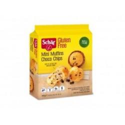 Esponjosas y suaves mini magdalenas con pepitas de chocolate ¡Llueve chocolate! Imagínate una suave y esponjosa magdalena con