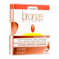 Bronze Natural es un complemento alimenticio a base de aceite de Rosa de Mosqueta, rica en ácidos grasos esenciales, extracto s