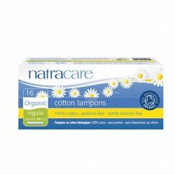 TAMPON REGULAR CON APLICADOR BIO 16/U NATRACARE Algodón 100% orgánico únicamente, nada más Totalmente libre de cloro Sin ray