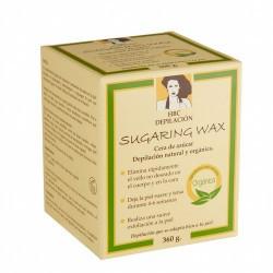 «Sugaring Wax» de Hanne Bang es una cera depilatoria orgánica con ingredientes 100% naturales. La cera remueve fácil y eficien