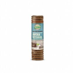 Ingredientes: Copos de AVENA integral* 35%, harina de TRIGO integral* 34%, aceite de semillas de girasol* 17%, azúcar de caña*,