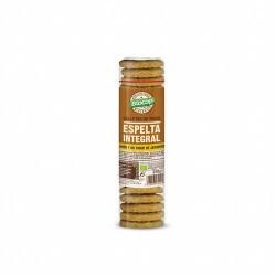 Ingredientes: Harina de TRIGO ESPELTA integral* 41%, azúcar de caña*, aceite de girasol*, copos de TRIGO ESPELTA* 10%, harina d