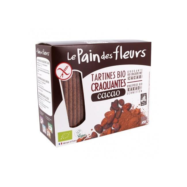ngredientes: Harina de arroz *, azúcar de caña **, cacao en polvo ** (6.3%). * De agricultura orgánica ** ingrediente ecológico