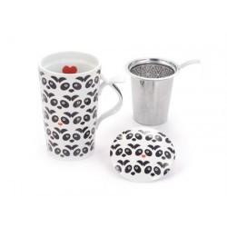"Jumbo-Herb Tea Mug ""Panda"" porcelain"