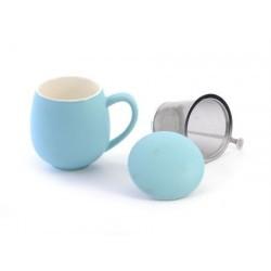 """Herb Tea Mug""""Saara"""" porcelain, matt sky blue"""