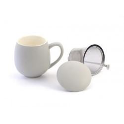 "Herb Tea Mug""Saara"" porcelain, matt grey"