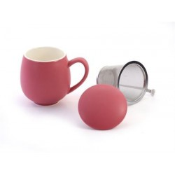 "Herb Tea Mug ""Saara"" porcelain, matte berry red"