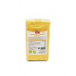 Harina de maíz para empanar procedente de agricultura ecológica. Ideal para frituras crujientes y ligeras. No contiene levadura